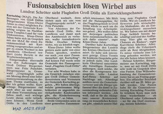 11. März 1998 Märkische Allgemeine Zeitung
