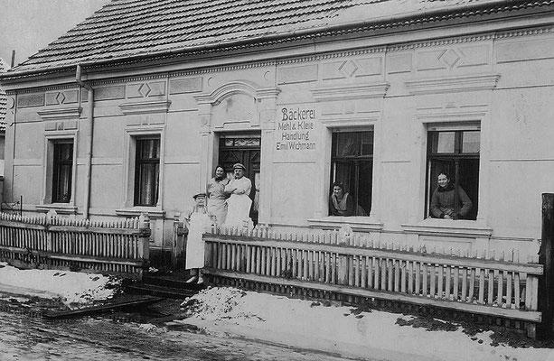 (0382) Bäckerei Emil Wichmann, Dorfstraße, um 1920