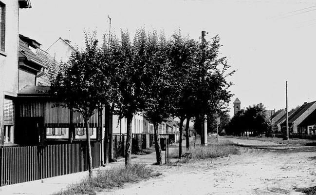 (0214) Dorfstraße, vorne links Verkaufsstelle Stelter, 1970er Jahre