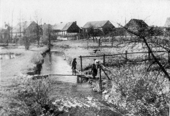 (0195) Fließ,  Blick auf den Alten Kietz von der Brücke aus, 1928