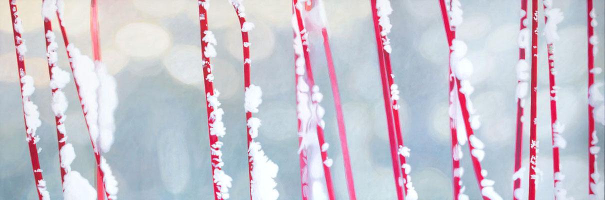 Schnee | 2014 | 70 x 210 cm | Acryl auf Baumwolle