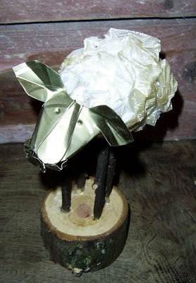 Sheep - Paper, twigs, tin, woods