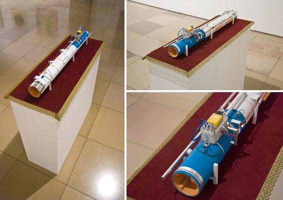 Teilchenbeschleuniger, 2013, diverse materials, 31 x 80 x 90cm