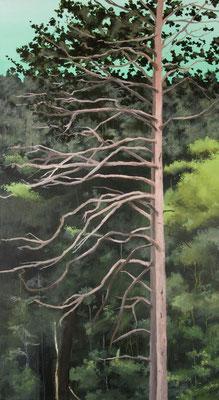 Baum Nr.4, 2015, Acrylic on canvas, 90cm x 50cm (private collection/Zürich)