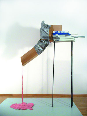 Board meeting/Vorstandssitzung, 2007, diverse materials, 60 x 85 x 120cm