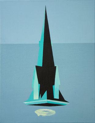 BellTower, 2015, Acrylic on canvas, 36cm x 28cm