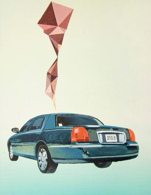 LincolnTownCar, 2015, Acrylic on canvas, 36cm x 28cm