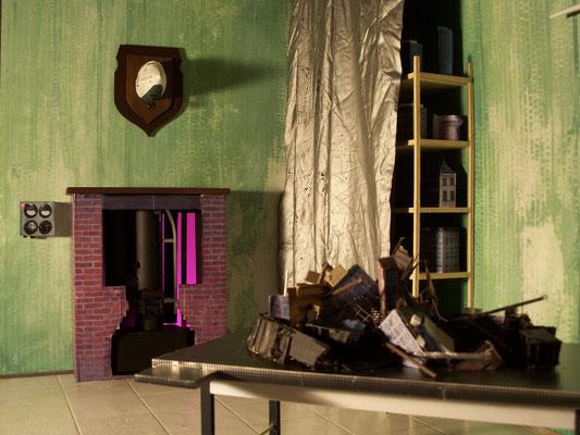 Detail from Diploma / Detail der Diplomarbeit (Diorama), 2009