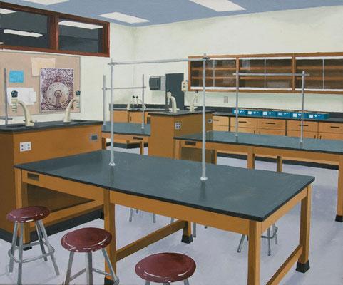 Ermittlungsabschluß, 2013, Acrylic/collage on canvas, 50cm x 60cm
