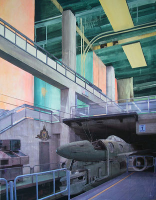 Trinity station, 2008, Acrylic/collage on canvas, 90cm x 70cm