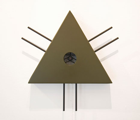 Eye in the Sky, 2012, diverse materials, 45 x 45 x 9cm