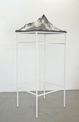Panorama, 2014, wood, plaster, wire-meshwork, fabric, acrylic, 207cm x 70cm x 80cm