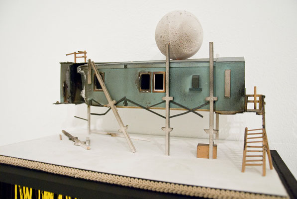 Polarforschungsstation, 2013, diverse materials, ventilator, 40 x 30 x 34cm