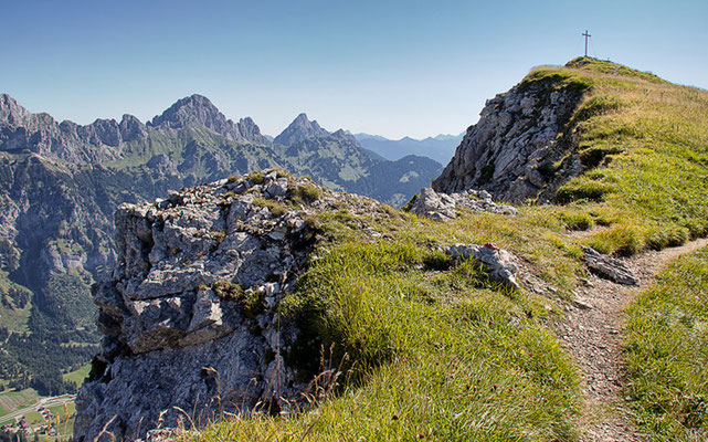 Krinnenspitze (2002m) - nicht mehr weit bis zum Gipfel