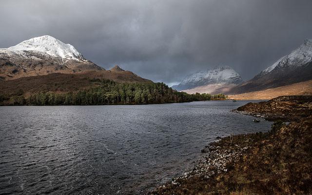 Loch Clair mit Sgurr Dubh, Liathach bei Torridon, Westerross