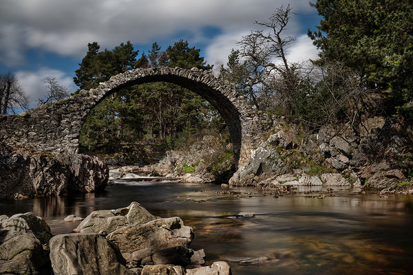 Old Packhorse Bridge in Carrbridge