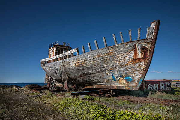 Old fishing boat in Arkranes