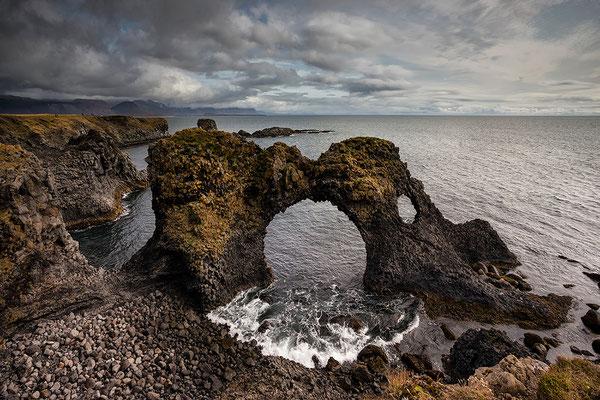 Gatklettur Sea Arch in Arnarstapi