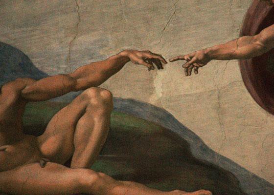 Die Erschaffung Adams - Sixtinische Kapelle