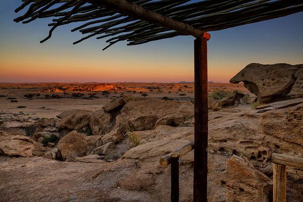 Aussicht von der Terrasse des Chalet Klipdrift