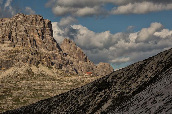 Drei Zinnen-Hütte von Westen
