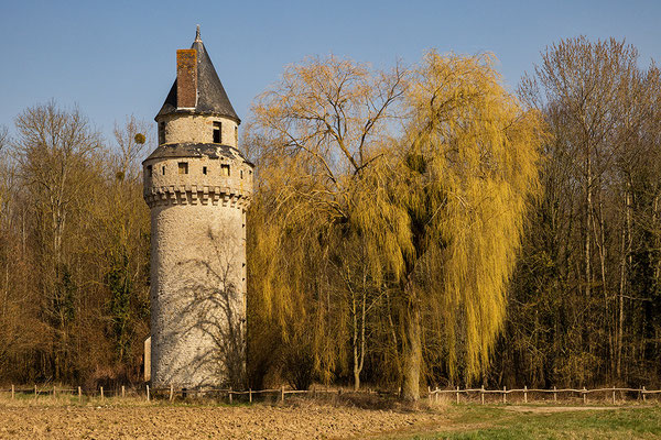 """Rapunzel-Turm"" bei Esternay"