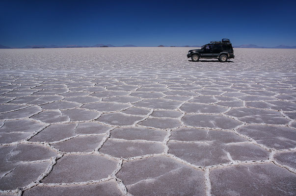 Unser Jeep auf dem Salzsee I
