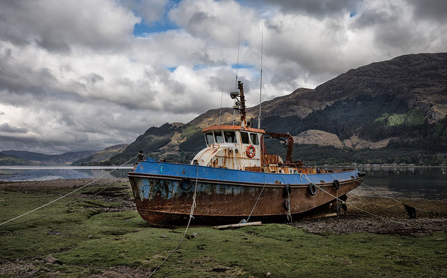 Altes Boot, Shiel Bridge, Loch Duich