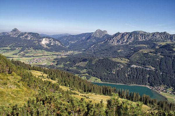 Haldensee beim Aufstieg auf die Krinnenspitze