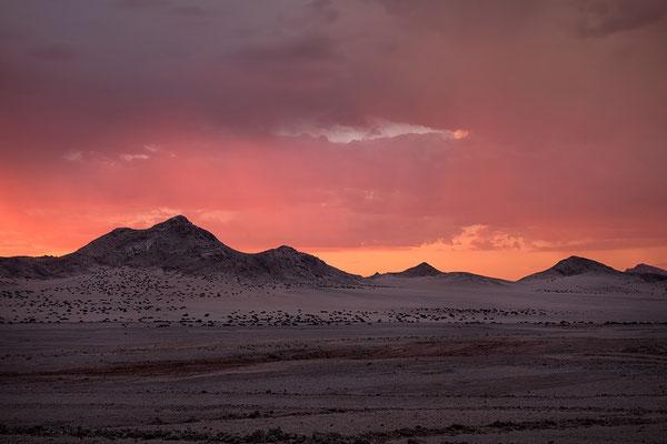 Diamantensperrgebiet nahe Lüderitz im Abendlicht