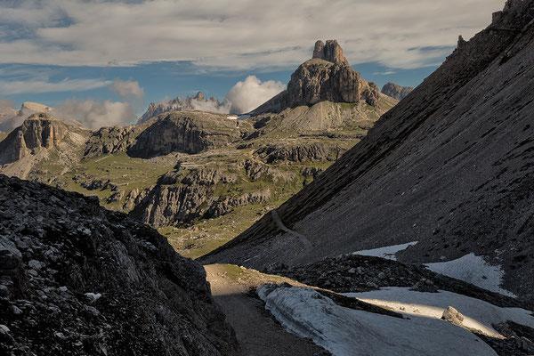 Sextner-Stein von der Westflanke des Paternkofels