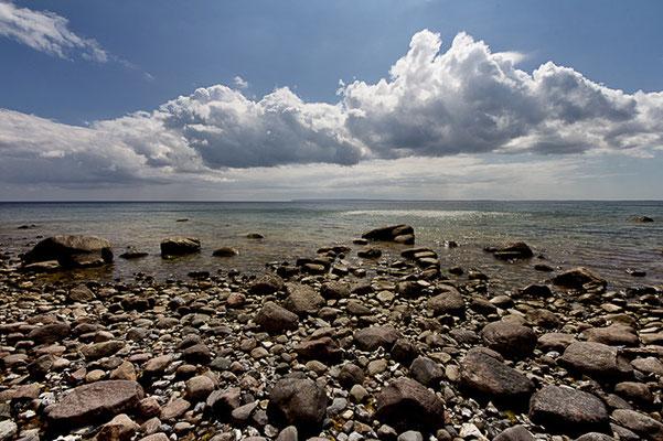 Strand und Wolken