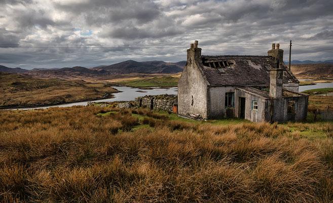 Aufgegebenes Crofthouse, Ballalan, Isle of Lewis