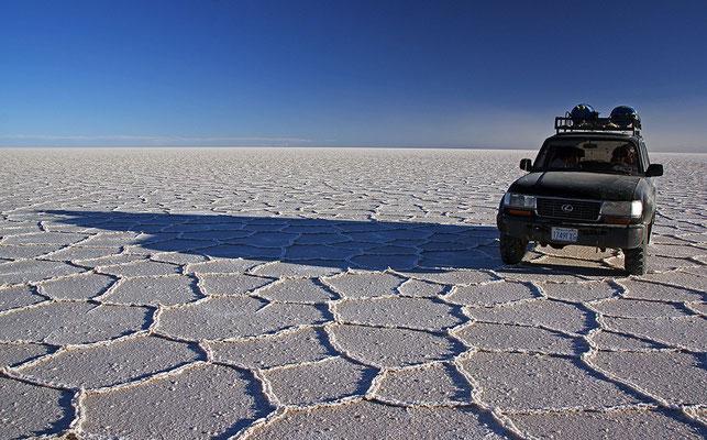 Unser Jeep auf dem Salzsee