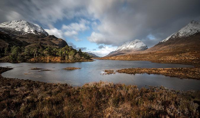 Loch Clair mit Sgurr Dubh,  Liathach, Bein Eighe bei Torridon, Westerross