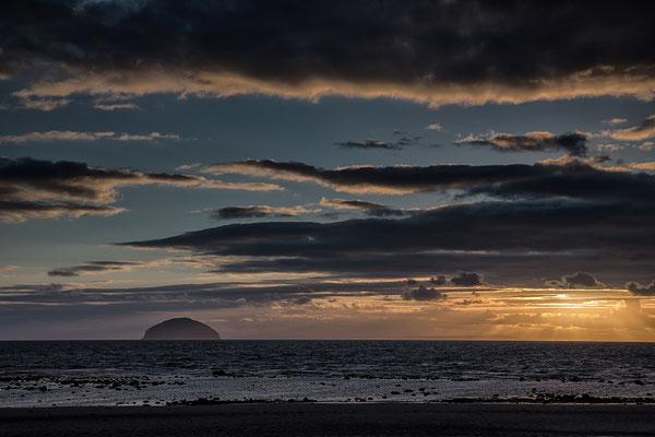 Sonnenuntergang über Ailsa Craig
