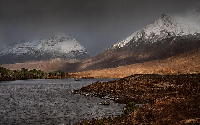 Loch Clair mit Liathach und Beinn Eighe bei Torridon, Westerross