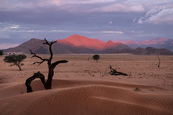 Kanaan Dünen beim Sonnenuntergang