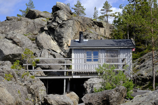 Die frei zugängliche Sauna