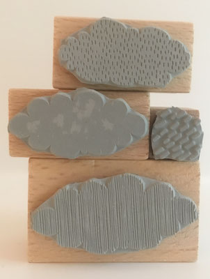 Stempelset Regenwolken