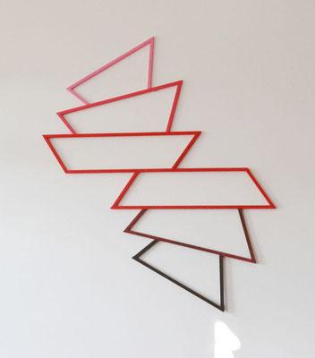 """""""Stufen"""", 2015, 90x75x1cm, Holz, Acryllack"""