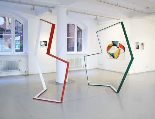 """Ragtime"", 2013, (eine): 220 x 188 x 80cm, Holz, Eisenwinkel"