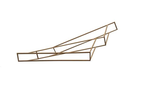 Hängendes Modell, 2012, 76 x 33 x 12cm, Holz
