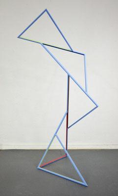 """""""Aspirando 1"""", 2019, 124x55x57cm, Eisen, lackiert"""