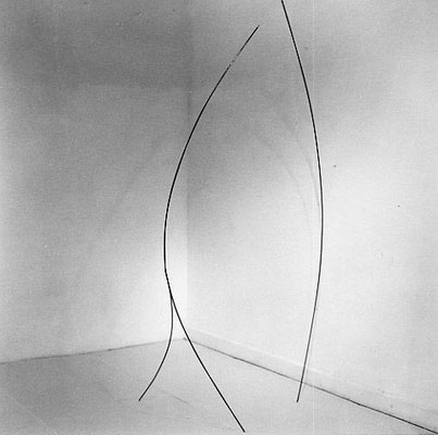 """et..."" , 1996, 230 x 70 x 130cm, Eisen"