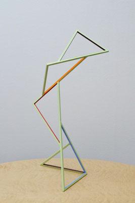 """Aspirando-grün"", 2019, 49x23x22cm, Eisen, lackiert"