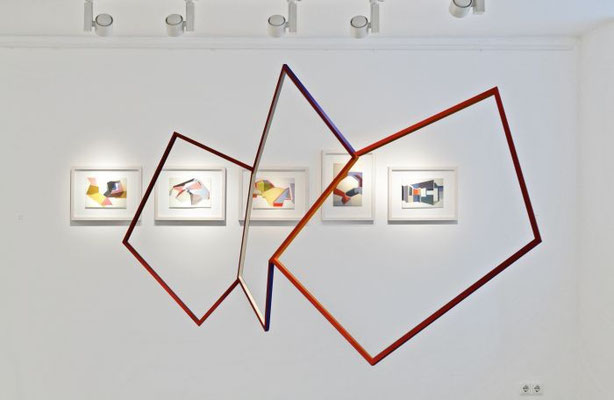 """""""Trois petites notes"""", 2013, 83 x 160 x 27 cm, Holz, Acryllack"""