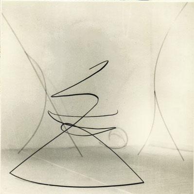 """Allegro Vivace"", 1996, 150 x 150 x 70cm, geschmiedetes Eisen"