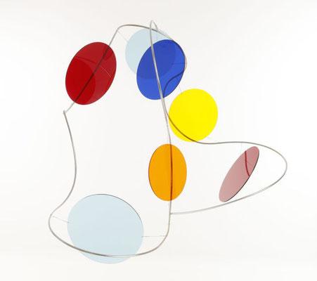 """Poppy Spots-Acryl"", 2017, 86x88x60cm, Edelstahl, Acrylglas"