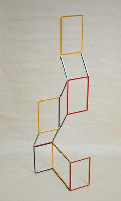"""""""Fenestrae"""", 2019, 120x30x31cm, Eisen, lackiert"""